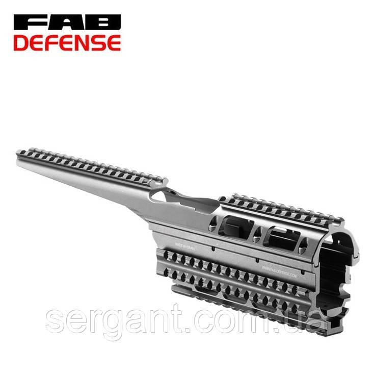 Тактическое цевье-квадрейл (металл) Fab Defense VFR-AK (Израиль) для АК-47/74