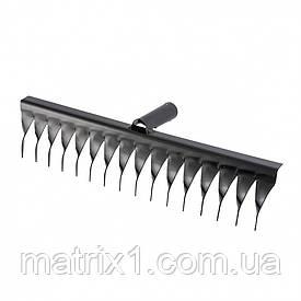 Граблі 16-зубые, 420 мм, без черешка, виті Росія Сибртех