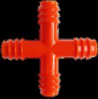 """Разветвитель воды «крест» 3/4"""" (20мм.)"""