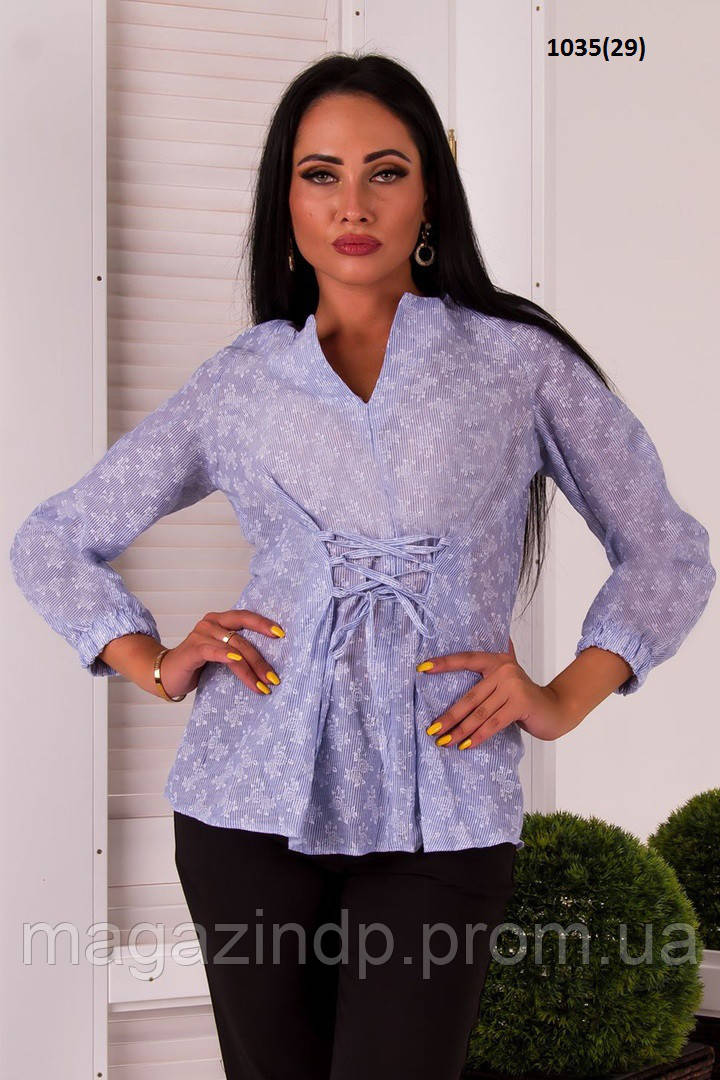 c41b718dcf0 Женская рубашка с завязками 1035(29) Код 738037104