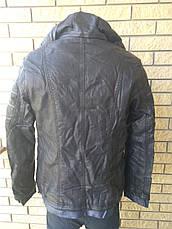 Куртка женская большого размера из экокожи ANDGELINA, Турция, фото 3