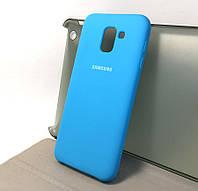Чехол силикон Silicone Cover для Samsung J6 2018 (J600)