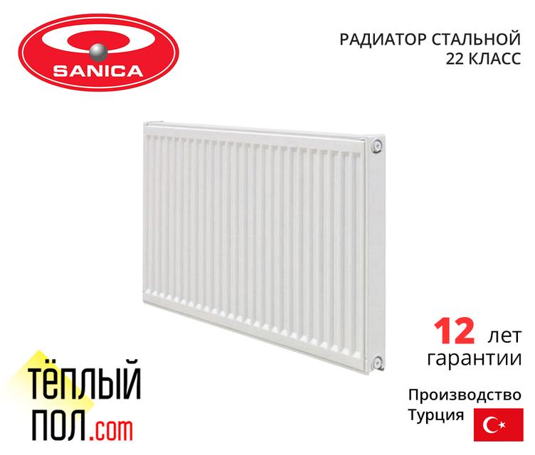 """Радиатор стальной, марки SANICA 300*900 (произведен в: Турция, 33 кл, высота 300мм)"""""""