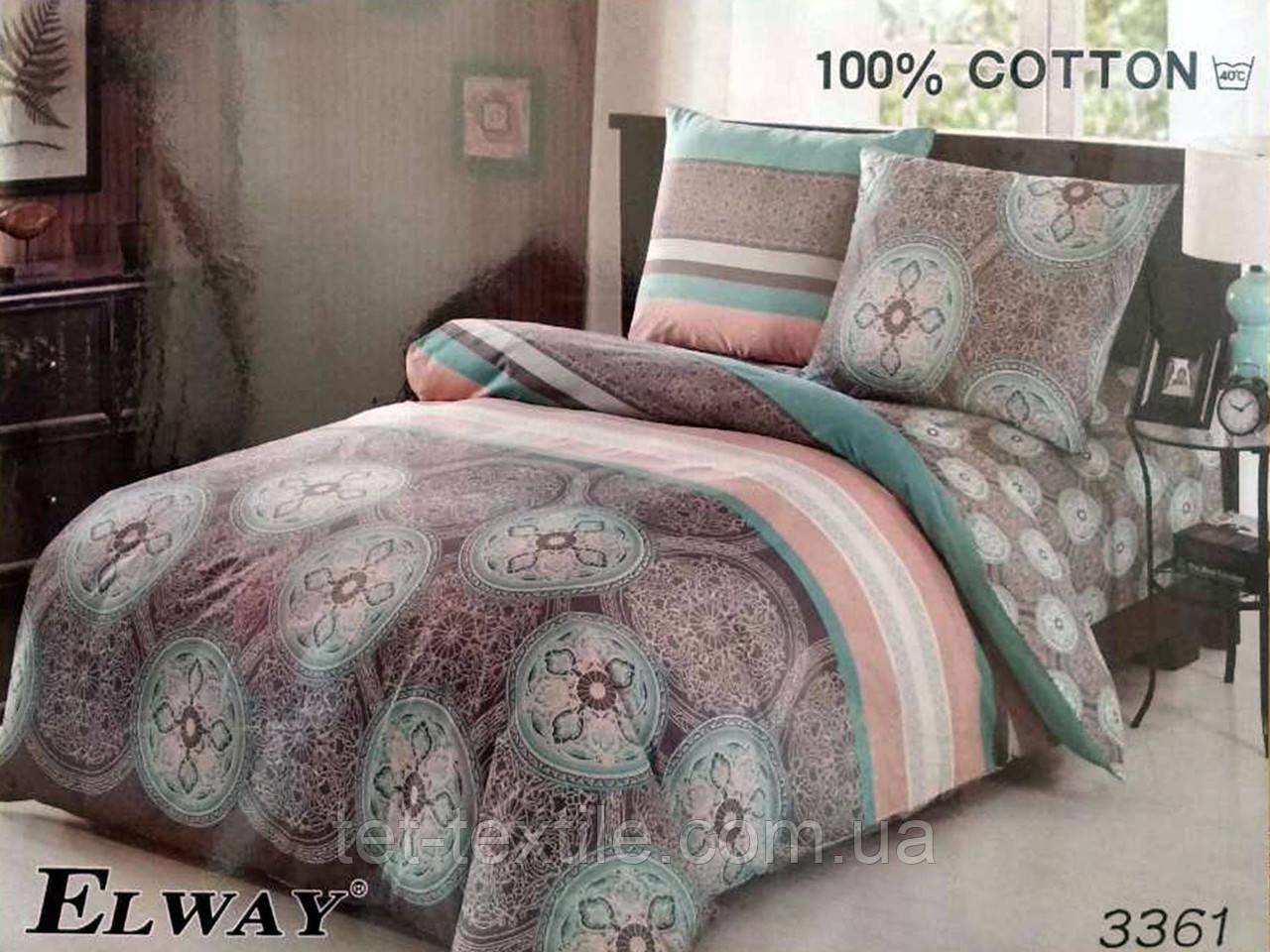 """Комплект постельного белья Elway """"Евро"""" 3361"""