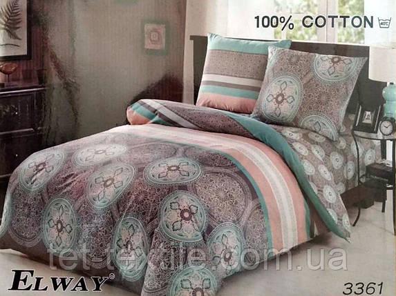 """Комплект постельного белья Elway """"Евро"""" 3361, фото 2"""