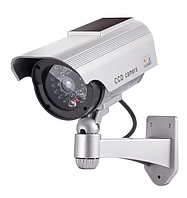 Муляж уличной камеры видеонаблюдения +Наклейка (Солнечная батарея+батарейки)