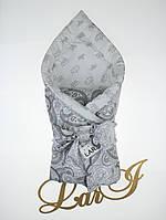 """Одеяло-плед """"Забава"""" (белый/серый(рисунок), бязь/бязь, д/с, (85*85)), фото 1"""