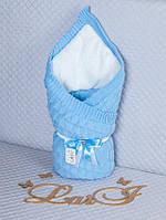 """Ковдра-покривало """"Лапочка"""" (зима) (блакитний, в'язане полотно, акрил, зима, (90*90), Так), фото 1"""