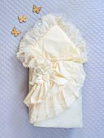 """Одеяло-конверт""""Луиза""""(д/с) (кремовый, поликоттон/бязь, д/с, (90*90))"""