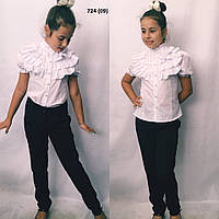 27c99fe21e0 Блузка на девочку с рюшами 724 (09) Код 733613563