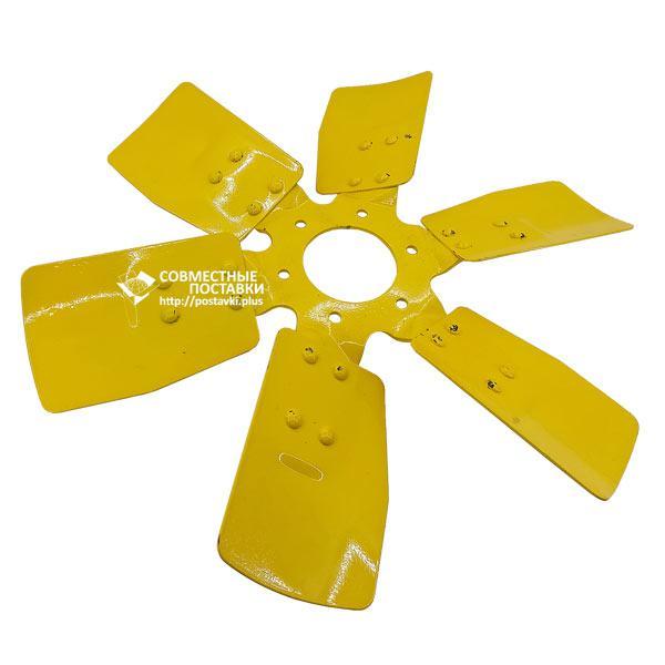 Крыльчатка вентилятора 245-1308040-А системы охлаждения МТЗ, Д-243, Д-245  (металлический, 6 лопастей)