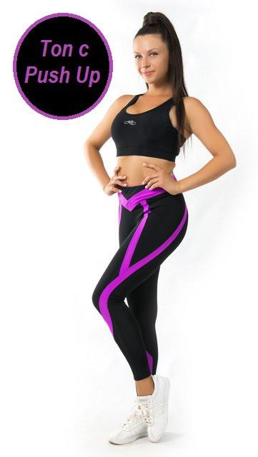 Женский спортивный комплект с ПУШ-АП (42-44; 44-46; 46-48) (фуксия) костюм для спорта и фитнеса из бифлекса