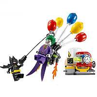 Конструктор Lepin Побег Джокера на воздушном шаре (Серия Bathero) 124 дет