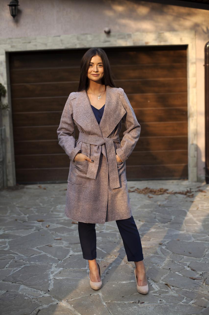 Женское пальто - кардиган Глория под пояс без подкладки  продажа ... 552cb6593bee2