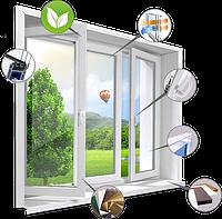 Металлопластиковые окна с 5 камерным профилем и двухкамерным энергосберигающим стеклопакетом за 1 м/кв