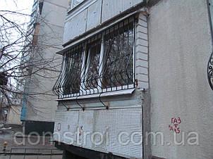 Балконные решётки с кованными элементами, фото 2