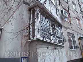 Балконные решётки с кованными элементами, фото 3