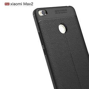 """TPU чехол """"Leather grain"""" для Xiaomi mi max 2 black, фото 2"""