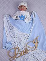 """Покривало-плед """"Prince""""(дв.) (блакитний, інтерлок/інтерлок, літо, (90*90))"""