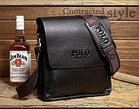 Мужская сумка Polo Videng коричневый,черный