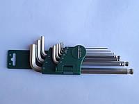 Комплект угловых шестигранников 1,5-10мм, 9 предм S2