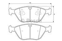 Тормозные колодки AUDI A4 Avant RS4 quattro (Bosch)