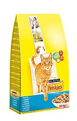 """Сухий корм для котів Friskies ( Фрискис) """"Лосось з овочами"""" 10 кг"""