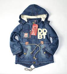Джинсовые куртки демисезонные парки для мальчиков