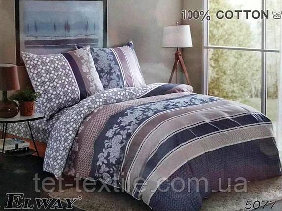 """Комплект постельного белья Elway """"Евро"""" 5077, фото 2"""