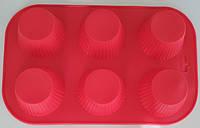 """Силиконовая форма для выпечки кексов """"Корзинка"""" СК3-385 арт. 822-10-1"""