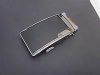 Пряжка - автомат для ремня 35 мм тёмный никель, фото 1