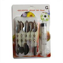 Шприц з насадками для желе.G Набір інструментів для створення малюнків 3 D.