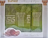 Набор бамбуковых полотенец Версаче (Versace). Бамбуковые полотенца в подарочной упаковке. Бамбуковые опт