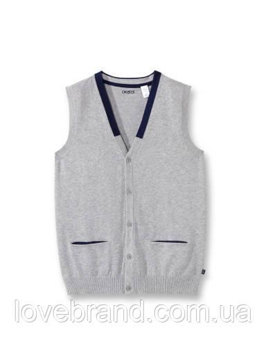 Качественный пуловер безрукавка для мальчика Okaidi (Франция) 10 л./140 см