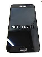 Дисплейный модуль, экран для Samsung Galaxy Note 1 N7000 i9220 с рамкой черный, фото 1