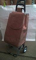 Однотонная хозяйственная водонепроницаемая сумка тележка на колесах