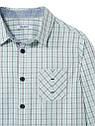 "Рубашка для мальчика ""Бирюза клеточка"" премиум качества Okaidi (Франция) 12 л./152 см, фото 3"
