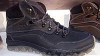 Мужские ботинки Ecco (черный крейзи)