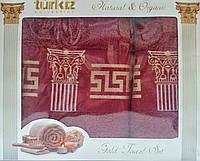 Набор бамбуковых полотенец Версаче (Versace). Бамбуковые полотенца в подарочной упаковке. Бамбуковые полотен