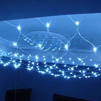 🔝 Гирлянда сетка новогодняя 180 LED (светодиодная), цвет - голубой, с доставкой по Киеву и Украине | 🎁%🚚, фото 1