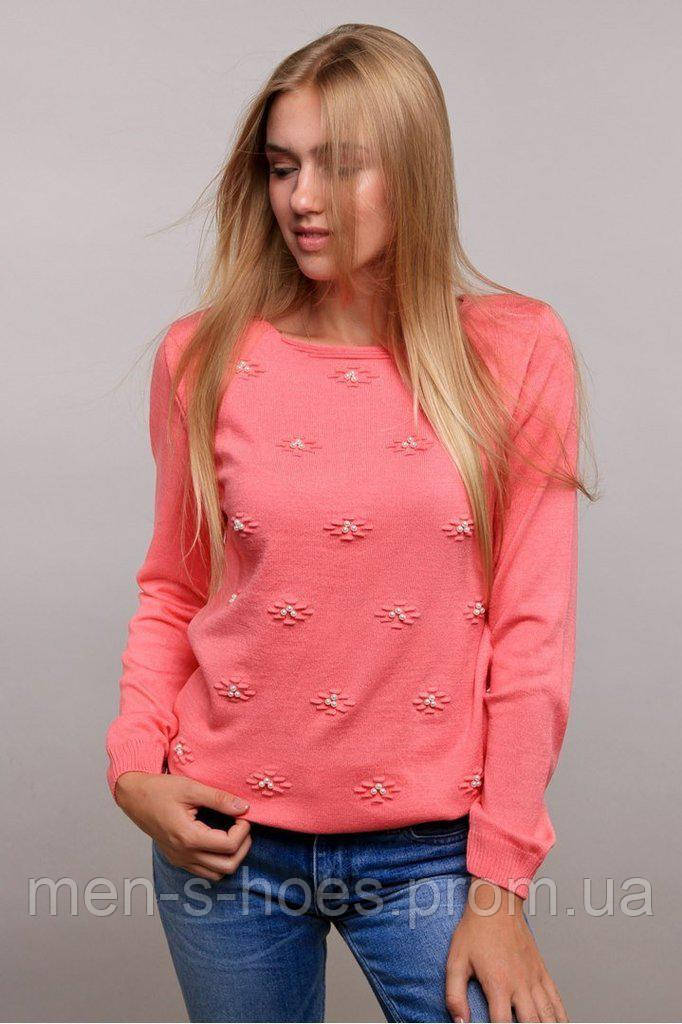 Кофта женская трикотажная нежная розовая .