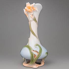 Ваза Veronese Лягушка и бабочка 29 см (20003 AA)