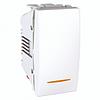 Выключатель 1-клавишный с индикацией, белый, 1 мод., MGU3.101.18S