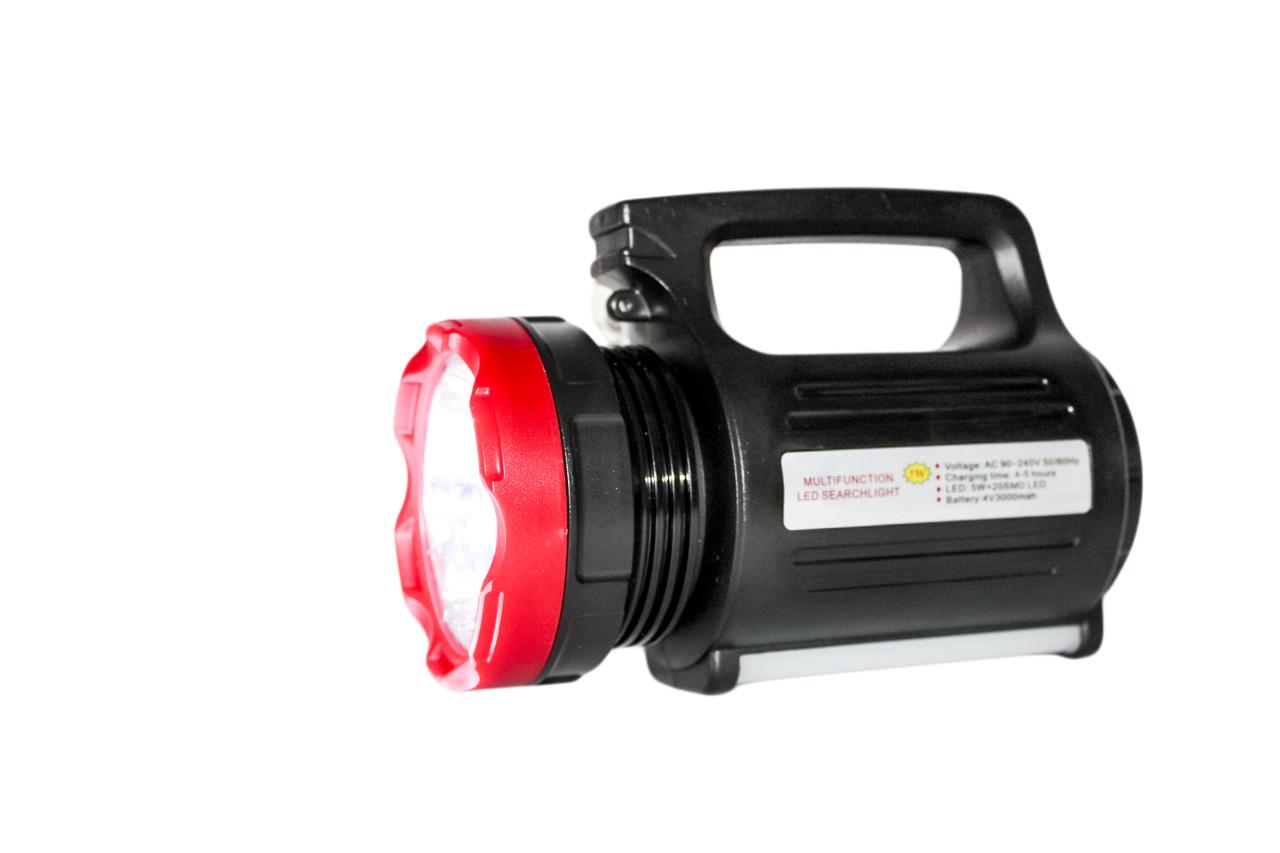 Мощный фонарь прожектор Yajia 2895-5W+20SMD,USB power bank