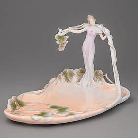 Статуэтка блюдо Veronese Девушка в листьях 28 см (20018 AA)