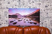 """Картина на холсте """"Хаф-Доум. Гранитная скала. Северная Америка. Природа"""". 40х70 см."""