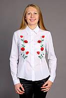 """Вышитая женская рубашка """"Маки"""" (арт. CK1-9.0.0), фото 1"""