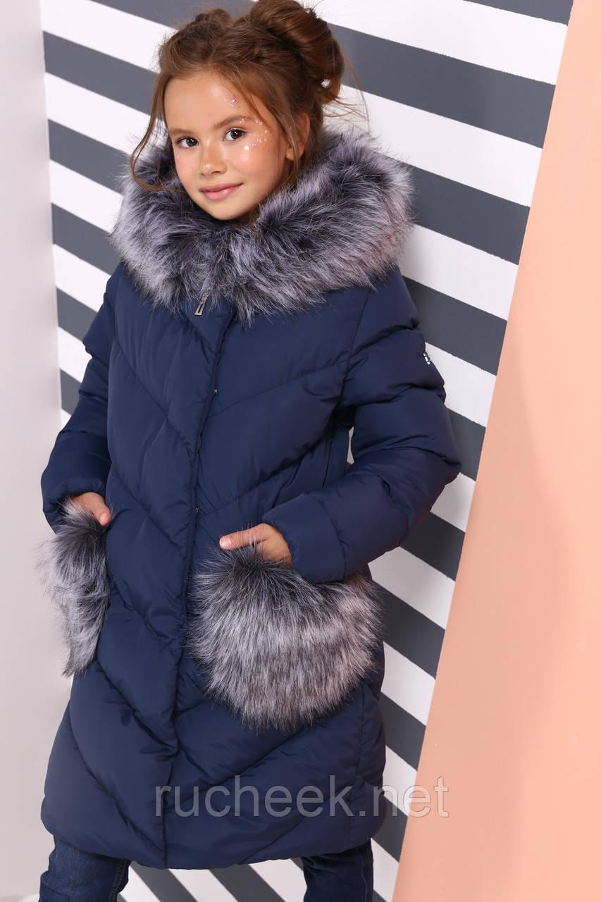 Детская зимняя куртка пуховик для девочки Банни, рост 110 - 122,  152-158.Украина Nui very