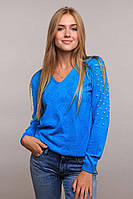 Кофта женская трикотажная голубая .