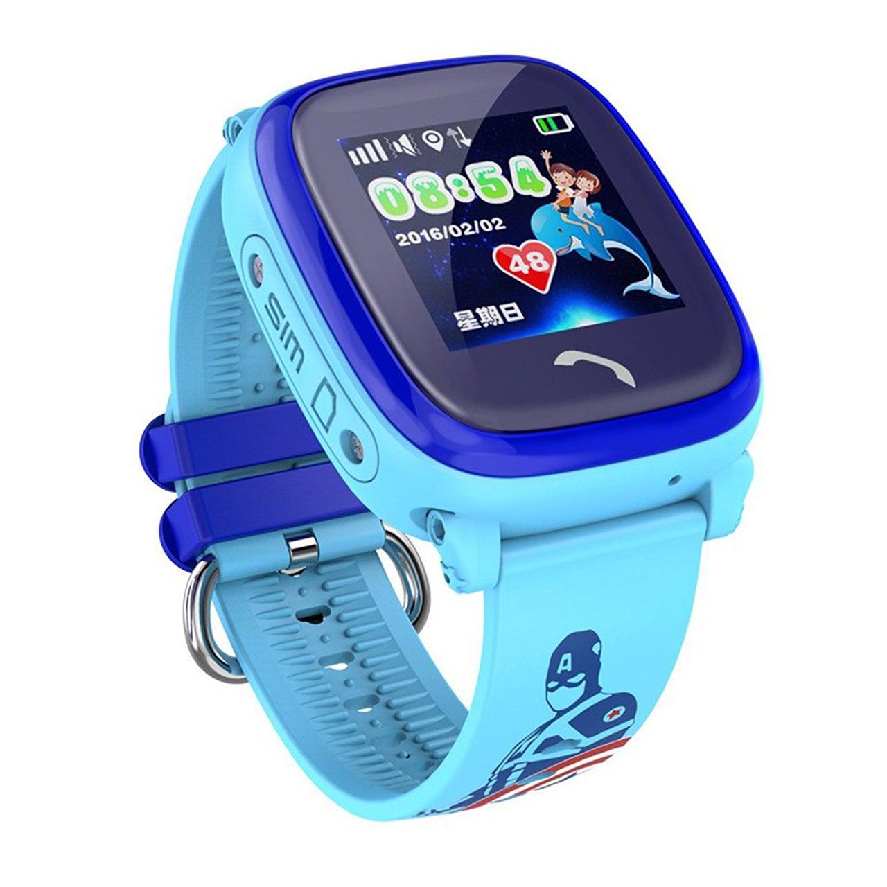 Умные GPS часы UWatch Baby DF25 водонепроницаемые Синие (hub_MfAi22611
